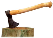 Main thumb film with an axe in